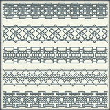 Set of seamless vintage borders in the form of celtic ornament Stock Image