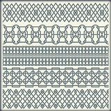 Set of seamless vintage borders in the form of celtic ornament Stock Photo