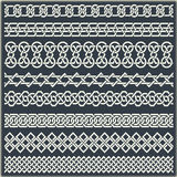 Set of seamless vintage borders in the form of celtic ornament Royalty Free Stock Image