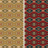 Set of seamless vintage floral pattern background Stock Images