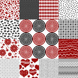 Set seamless vintage monochrome patterns Royalty Free Stock Photography