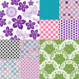 Set seamless vintage pattern Stock Photos