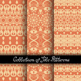 Set of 3 Seamless Vintage Patterns  Royalty Free Stock Photography