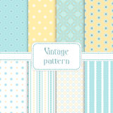 Set of seamless vintage patterns Stock Image