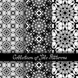 Set of 3 Seamless Vintage Patterns (Vector) Stock Photo