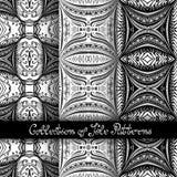 Set of 3 Seamless Vintage Patterns (Vector Stock Photos
