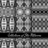Set of 3 Seamless Vintage Patterns (Vector Royalty Free Stock Photography