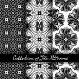 Set of 3 Seamless Vintage Patterns (Vector. ). Black and White Design. Hand Drawn Tile Texture, Ethnic Ornament vector illustration