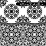 Set of 2 Seamless Vintage Patterns (Vector) Stock Image