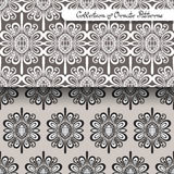 Set of 2 Seamless Vintage Patterns (Vector). Colored Design. Hand Drawn Tile Texture, Ethnic Ornament Royalty Free Stock Images