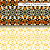 Set of 2 Seamless Vintage Patterns. (Vector). Colored Design. Hand Drawn Tile Texture, Ethnic Ornament vector illustration