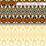 Set of 2 Seamless Vintage Patterns Stock Image