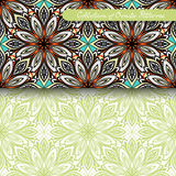 Set of 2 Seamless Vintage Patterns (Vector) Royalty Free Stock Image