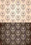 Damask seamless pattern. Set of seamless vintage wallpaper patterns royalty free illustration
