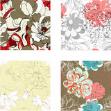 Set of seamless wallpaper Royalty Free Stock Photo