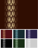 Set of Seamless Wallpaper Royalty Free Stock Images