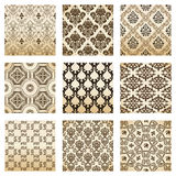 Set Seamless Wallpaper Old Decorative Vintage