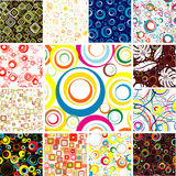 Set SEAMLESS wallpapers. Royalty Free Stock Photography