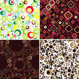 Set SEAMLESS wallpapers. royalty free illustration
