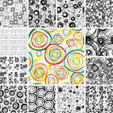 Set SEAMLESS Wallpapers Royalty Free Stock Photo