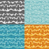 Set of seamless wave patterns Royalty Free Stock Photography