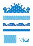 a set of Seamless wave patterns Royalty Free Stock Photos