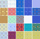 Set of seamless winter patterns. With snowflakes Stock Illustration