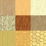 Set of seamless wood generated textures Royalty Free Stock Photography
