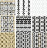 Set of seamless zigzag patterns Stock Photos