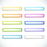 Set of search bars Stock Photo