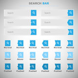 Set of search bars Royalty Free Stock Image