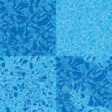 Set of seashell seamless pattern Royalty Free Stock Photo