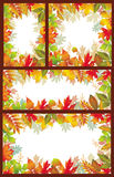 Set of Seasonal banner of autumnal leaves. Set of vector Seasonal banner of autumnal leaves Royalty Free Stock Images