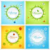 Set of seasonal cards Royalty Free Stock Photo