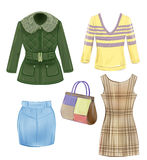 Set of seasonal clothes Stock Photo