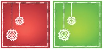 Set of seasonal greetings Stock Images