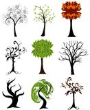 Set of  seasonal trees Royalty Free Stock Image