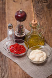 Set of seasoning and sauces Stock Images