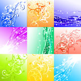 Set of seasons background. This illustration can be used for your design Royalty Free Stock Photos