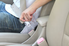 Set the seat belt Stock Image