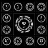 Set of The 92 seconds, 25 64 85 57 76 96 8 53 editable icon pack. Set Of 13 simple editable icons such as The 92 seconds, 25 64 85 57 76 96 8 web ui icon pack Royalty Free Stock Photos