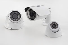 Set of security cameras Stock Images