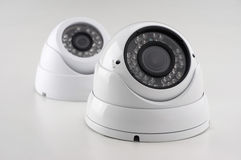 Set of security cameras Stock Photography
