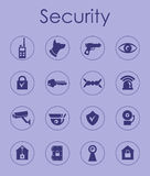 Set of security simple icons Royalty Free Stock Photos