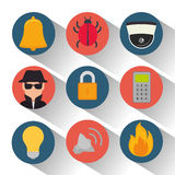 Set security system protection data. Illustration eps 10 Royalty Free Stock Photo