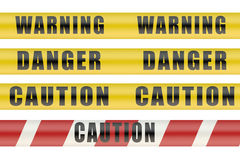 Set of security warning tapes Stock Images
