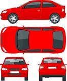 Set of Sedan Cars. Isolated car, template for car branding and advertising. vector illustration