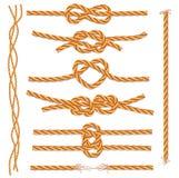 Set Seile und Knoten stock abbildung