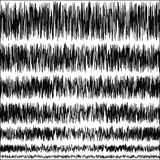 Set of seismic vibrations of the quake on the Richter scale Stock Images
