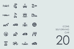 Set of self-driving car icons Royalty Free Stock Photography